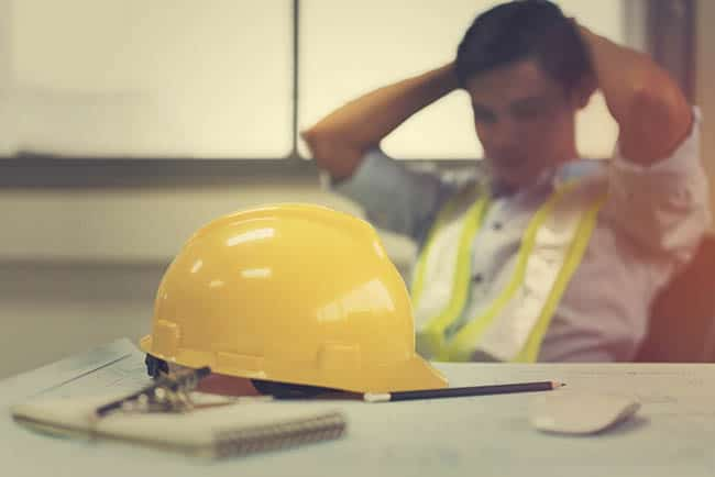 Construction worker holing head