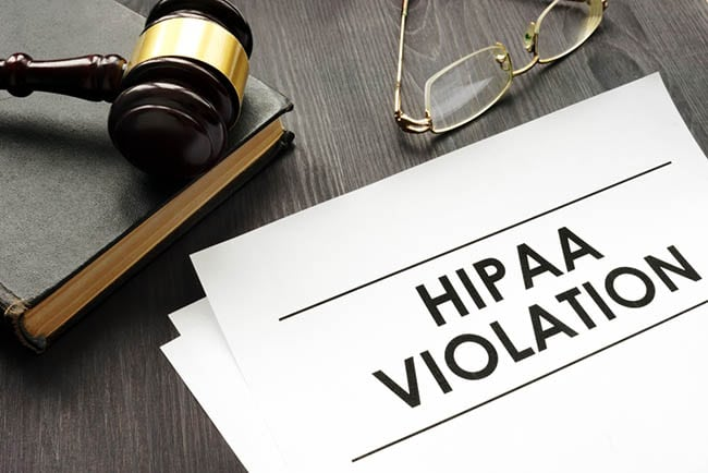 HIPAA violation documents
