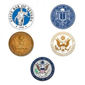 State BAR & District Court symbols for California & Nevada