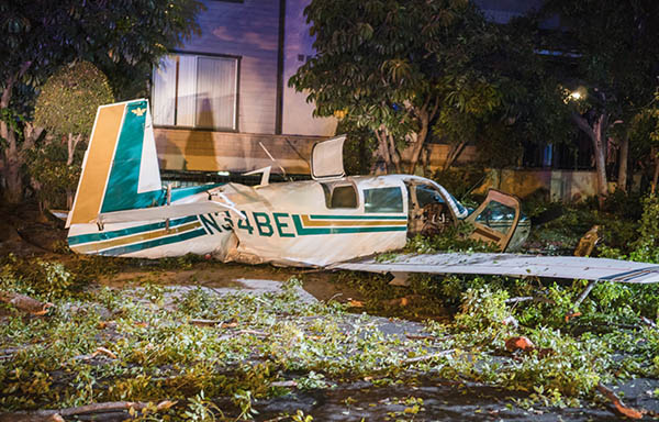 Small plane crashed in a residential neighborhood