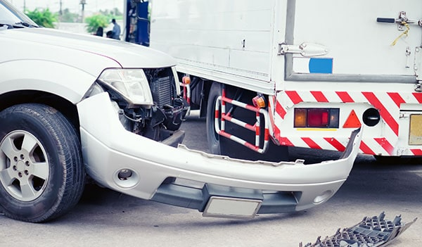 Vehicles after truck accident