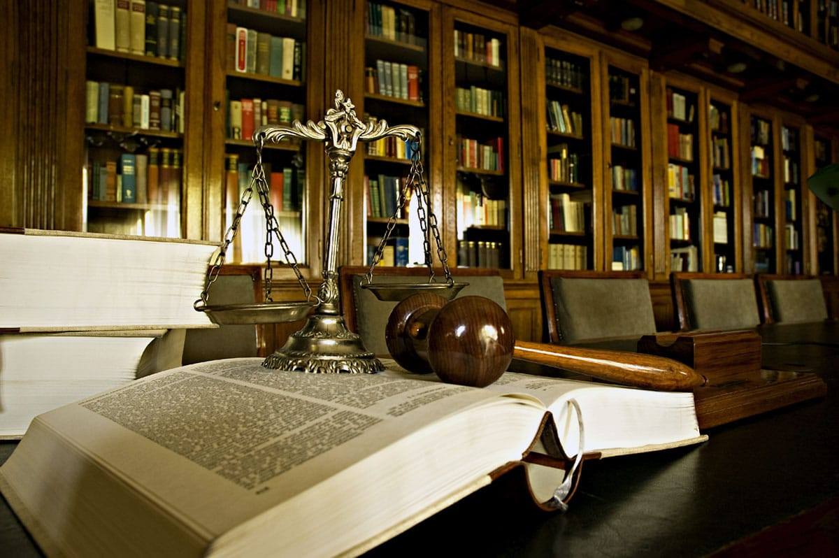 Lawyer Library Scales of Justice