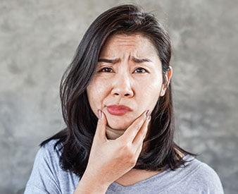 Nerve damage injury victim in pain
