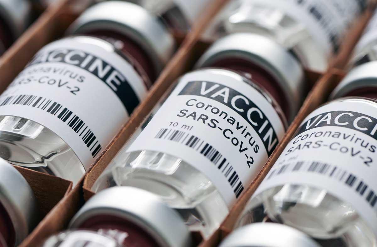 covid-19 vaccine bottles for coronavirus