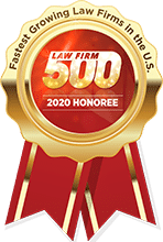 Law Firm 500 2020 Honoree seal