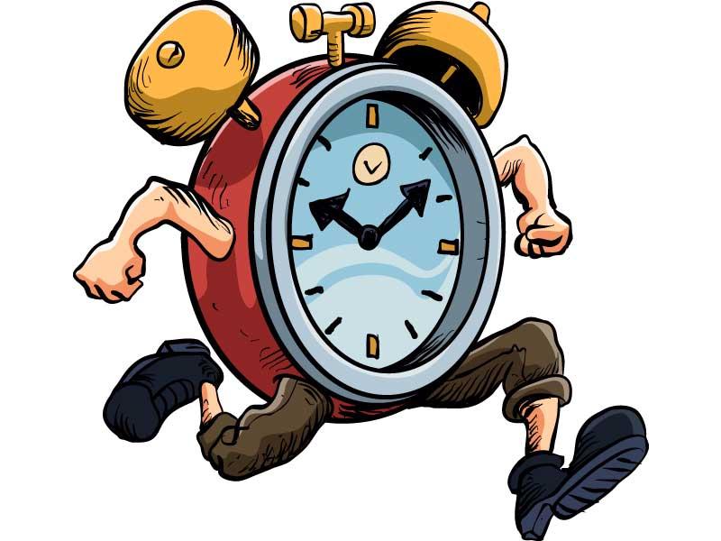 alarm clock running